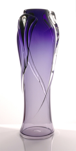 Cascade Vase (avaliable in Purple & Teal) 25cm - $199 + GST, 30cm $359 + GST